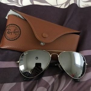 Ray Ban Mirrored Aviators